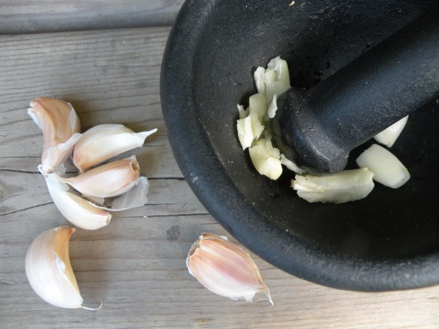 Crushing Garlic